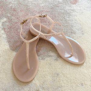 LK Bennett Lola Jeweled Jelly Sandals